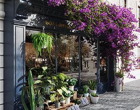 flower shop facade dessign 3D model