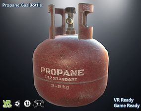 Propane Gas Bottle Optimized 3D asset