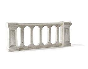 3D model Stone Railing Design