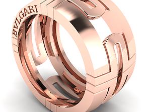 shining 3D print model Bvlgari ring