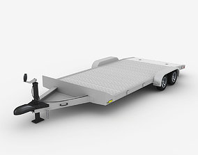 Aluminum Car Trailer 3D