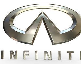 3D model infiniti logo detailed