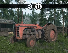 Old Farm Tractor - PBR and Game Ready 3D asset