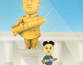 LONELY KIM 3D cartoon character