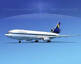Douglas DC-10 Lufthansa 3D model