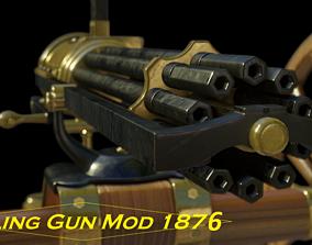 3D model realtime Gatling Gun