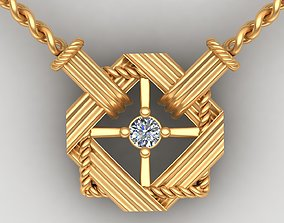 3D print model Dior Diamond Gold Necklace