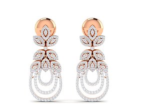 hoopsandhuggies Women earrings 3dm stl render detail