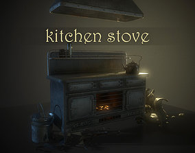 3D model Pack-Kitchen stove