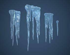 Ice dam 3D asset