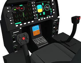 Black Helicopter Cockpit 3D model