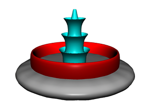 water fountain 3d model animated