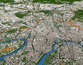 3D Moscow City 100x100KM September 2020