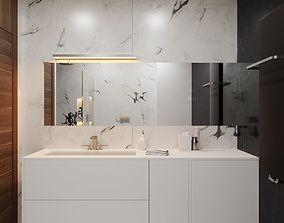 Modern Hi-End Bathroom scene for Cinema 4D and Corona 3D