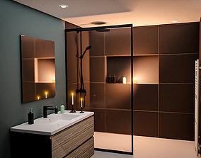 3D model Bathroom Interior 1