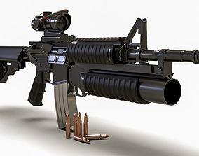 M4A1 Rifle Gun 3D