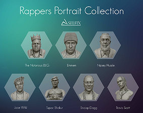 13 Rappers Portrait sculpture collection for 3D printing