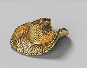 Cowboy Hat Brooch 3D print model