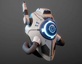 3D model sci fi helmet