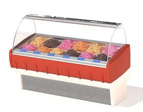 3D Glass Ice Cream Case