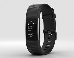 Fitbit Charge 2 Black 3D