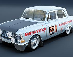 Moskvich-412 rally 3D asset