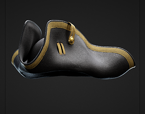 Pirate Tricorn Hat 3D model