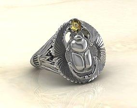 Scarab ring 3D print model