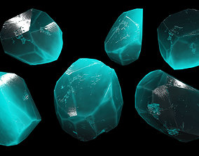 3D model low-poly crystal