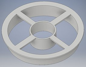 3D print model SOLID 3 inch doughnut shaped cookie 2