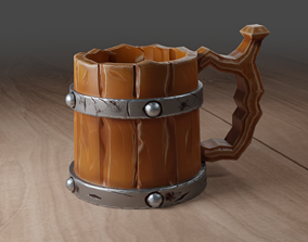Stylized Beer Mug 3D asset