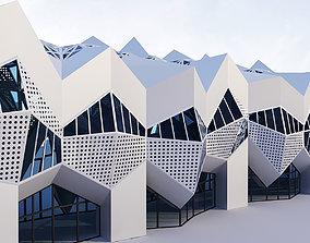 3D model Futuristic building 11