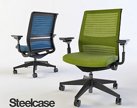 Steelcase Think swivel office chair 3D