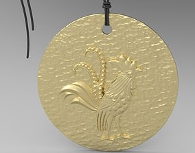 silver Chinese Zodiac Rooster 3D printable model