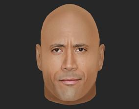 Dwayne Johnson - Lowpoly head for game 3D asset