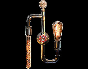 Edison Filament Bulb Wall Lamp 3D