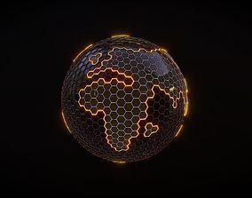 Hexagon Planet Earth 3D model
