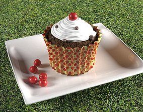 icecream 3D Cup Cake in V-Ray