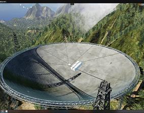 3D model China FAST Telescope Radio Scene