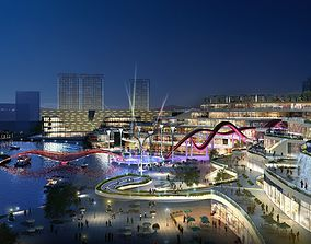 3D model City shopping mall 003