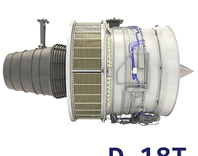 3D D-18T turbofan engine light