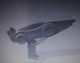 3D printable model power ranger turbo blaster