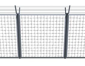 3D asset Low Poly Modular Fence 5