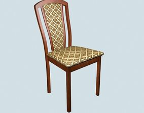 3D Dining chair made of merbau