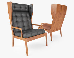 3D James UK Wingback Chair