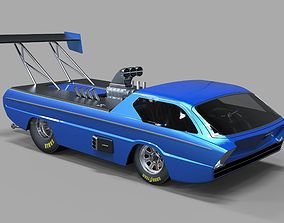 3D model Dodge Deora dragster