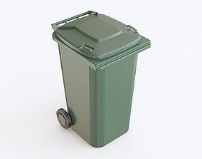 Trash bin plastic 3D