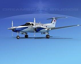 Beechcraft UC-12Q Huron V11 US GOV 3D model