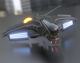 3D model Intergalactic Spaceship Design in Blender Eevee