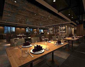 Business Restaurant - Coffee - Banquet 204 3D